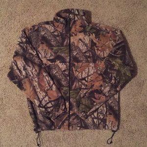 Camouflage fleece jacket